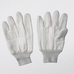 Heat Resistance Cotton Work Glove with 2 Layers pictures & photos