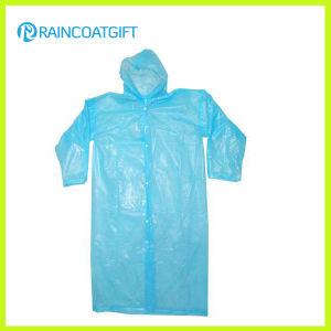 Clear Cheap Disposable PE Raincoat pictures & photos
