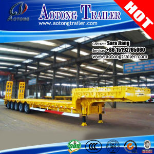 5 Axles 80tons Extendable Low Bed Semi Truck Trailer pictures & photos