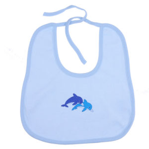 Newest Design Embroidered Knit Pattern Baby Bib for OEM pictures & photos