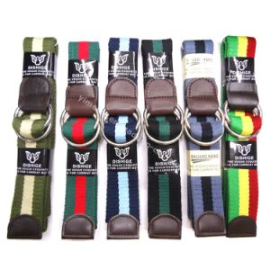 Unisex Fashion Colorful Stripes Fabric Belts Supplier pictures & photos