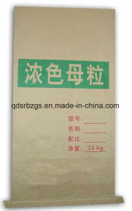 BOPP Film Printing Kraft PP Woven Paper Bag for Mineral pictures & photos