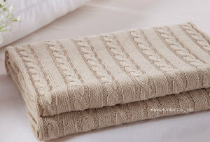 High Quality 100% Knit Cable Knit Blanket (B14106) pictures & photos
