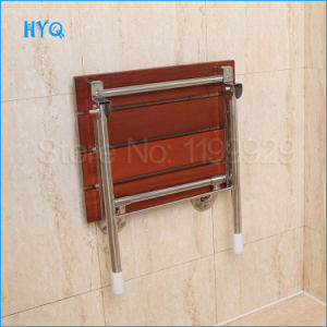 Le Mei Shi F-Type Corridor Seating Stool Wooden Foldable Chair Can Be Used as Wall Mounted Shower Seat pictures & photos