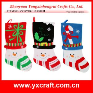 Christmas Decoration (ZY16Y006-1-2-3 50CM) Santa Stocking Holder Set pictures & photos