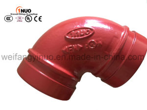 FM/UL Approved Ductile Iron 90 Degrees Grooved Elbow pictures & photos