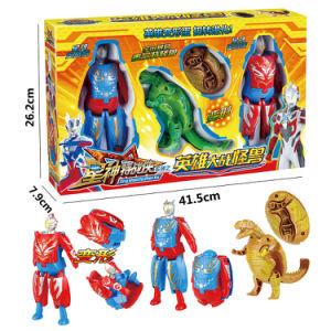3in1 Plastic Deformation Dinosaur Egg Cartoon Hero Super Man Toy