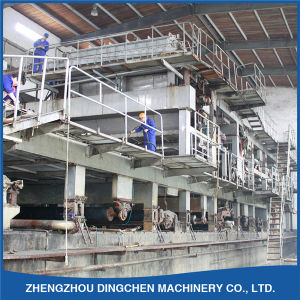 3200mm Fourdrinier Waste Carton Paper Recycling Machine with 150t/D pictures & photos