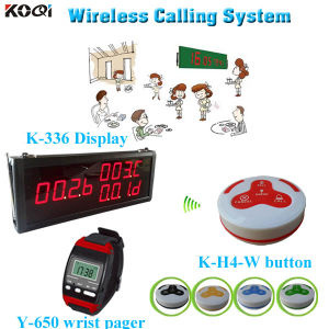 Wireless Waiter Kitchen Call System Smart Restaurant Equipment K-336+Y-650+H4-W pictures & photos