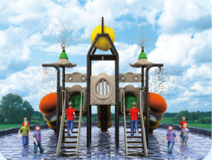 Amusement Park Three Slide Kids Outdoor Playground HD-Tsd004 pictures & photos