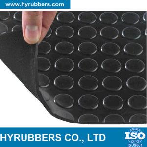 Anti-Slip Round Button Rubber Sheet Black Color pictures & photos