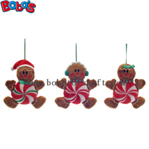 Cheapest Xmas Plush Stuffed Gingerbread Man Toy Christmas Product pictures & photos