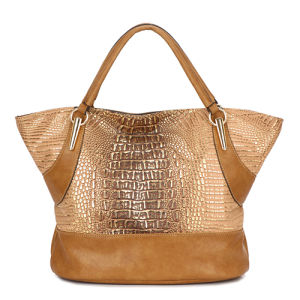 Crocodile Grain Leather Ladies Designer Handbags (MBNO034079) pictures & photos