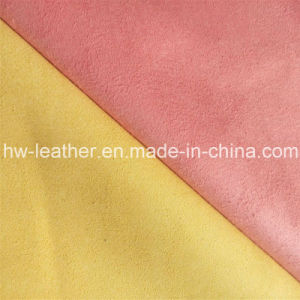 Real Microfiber Fabric for Shoes, Sofa Furniture (HW-1634) pictures & photos