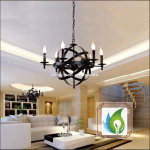 The Globe Antique Wrought Iron Chandelier, Contracted Sitting Room Chandelier American Country Chandelier pictures & photos