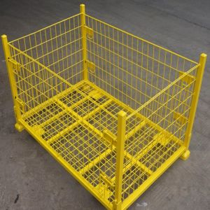 Folding Warehouse Storage Cage in Store (Manufacturers) pictures & photos