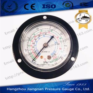 63mm 2.5′′ 3.8MPa Refrigeration Pressure Gauge with Front Flange for R404A/R22/R134A/R407c Liquid pictures & photos
