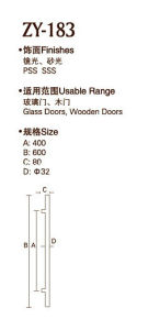 High Quality Door Handle (ZY-183) pictures & photos
