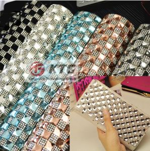 Crystal Hot Fix Self Adhesive Rhinestone Net Mesh pictures & photos