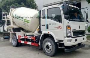 HOWO Light Truck with Concrete Mixer Drum for 3-5m3