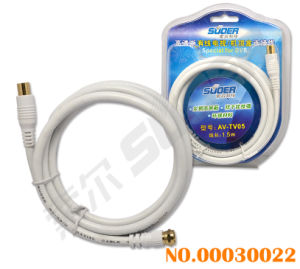 Suoer 1.5m Gold Plated Connector Set Top Box TV AV Cable (AV-TV05-1.5M-Gold-White-Set Top Box-Blister) pictures & photos