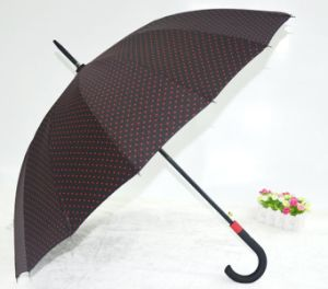 58.5cm*8k Auto Open Straight Umbrella with Curve Handle pictures & photos