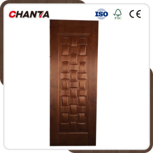 Melamine Paper Faced Natural Veneer Door Skin with HDF pictures & photos