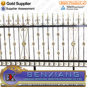 Power Coating Wrought Iron Fence pictures & photos