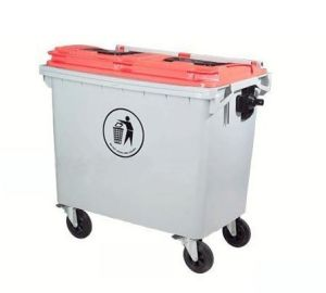 660L Outdoor Plastic Garbage Can with Forklift Pocket pictures & photos