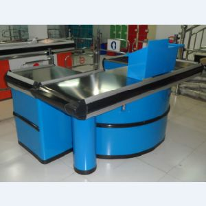 Stainless Steel Surface Supermarket Check-out Counter by Factory pictures & photos