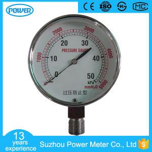 OEM 50kpa Stainless Steel 80mm Bellows Capsule Pressure Gauge pictures & photos