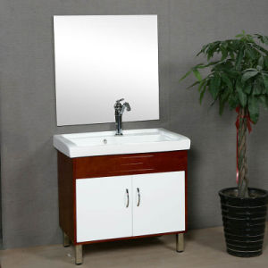 Factory Directly Solid Wood Bathroom Cabinet pictures & photos