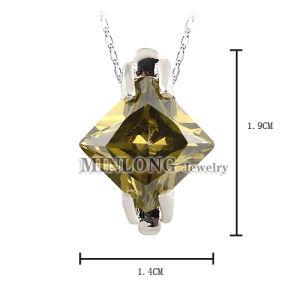 Rhodium Copper Pendant Charm