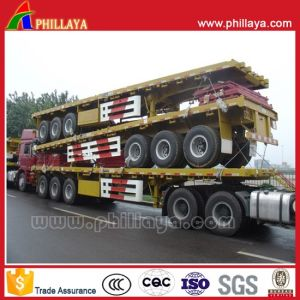 High Bed 40FT Flatbed Container Chassis Platform Semi Trailer pictures & photos