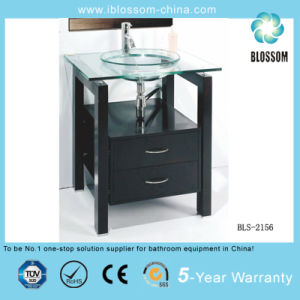 Professional Glass Vanity Factory (BLS-2156) pictures & photos