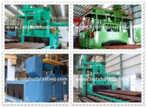 Steel Profile Descaling Roller Conveyor Type Shot Blasting Machine