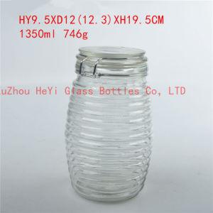1350ml Glass Storage Jar Food Glass Container
