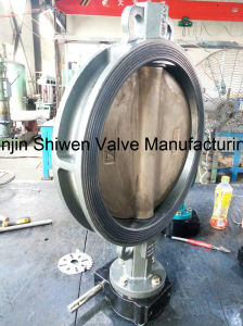 API/DIN/JIS Qt450 Wafer Type Butterfly Valve with Gear Actuator pictures & photos