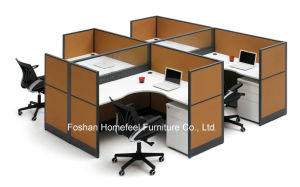 Simple Custom Office Workstation with Fabric Furnishing Panel (HF-BSP010) pictures & photos