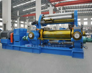 Two Roll Mixing Mill with Stock Blender (XK) pictures & photos