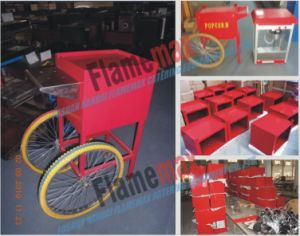 Red Popcorn Machine Cart Trolley (TC) pictures & photos
