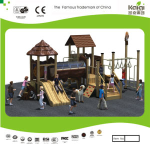 Kaiqi Medium Sized Wooden Forest Themed Children′s Playground with Slides and Tunnels (KQ20058A) pictures & photos