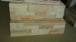Light Pink Quartzite Stack Stone for Wall (SSS-103) pictures & photos