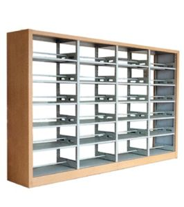School Heavy Duty Double Side 4 Bay Bookshelf with Display Function and Adjustable Shelf pictures & photos