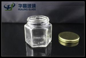 Huajing High Quality Small 138ml Hexagonal Glass Mason Jar