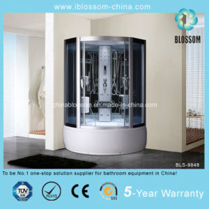 Economic Grey Glass Steam Shower Cabin (BLS-9848) pictures & photos