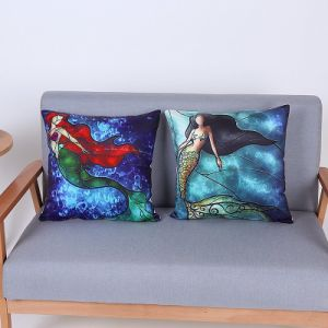 Digital Print Decorative Cushion/Pillow with Mermaid Pattern (MX-92) pictures & photos