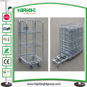 Laundry Wire Mesh Roll Cage Container Trolley pictures & photos