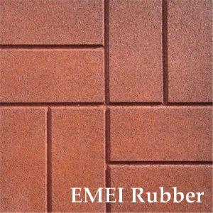 Brick Texture Rubber Tile (EN1177, SGS, IOS9001: 2000) pictures & photos