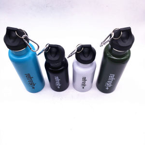 1000ml Newest Flip Lid Stainless Steel Vacuum Insulation Sports Bottle with Plastic-Spraying pictures & photos
